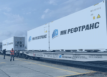 Перевозка в рефконтейнерах 20 и 40 футов по железной дороге